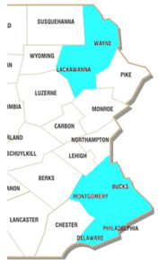 Select Counties in Pennsylvania Coverage Attorneys