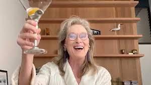 Meryl Streep Drinking on zoom